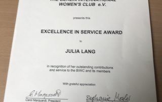 Excellent in Service Award Certificate
