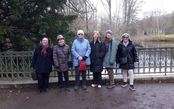 Six members of the Tiergarten Walking Group